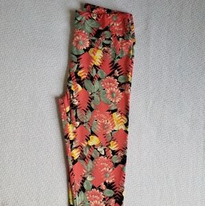 Lularoe Tropical Flowers Leggings